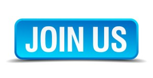 31358811 - join us blue 3d realistic square isolated button